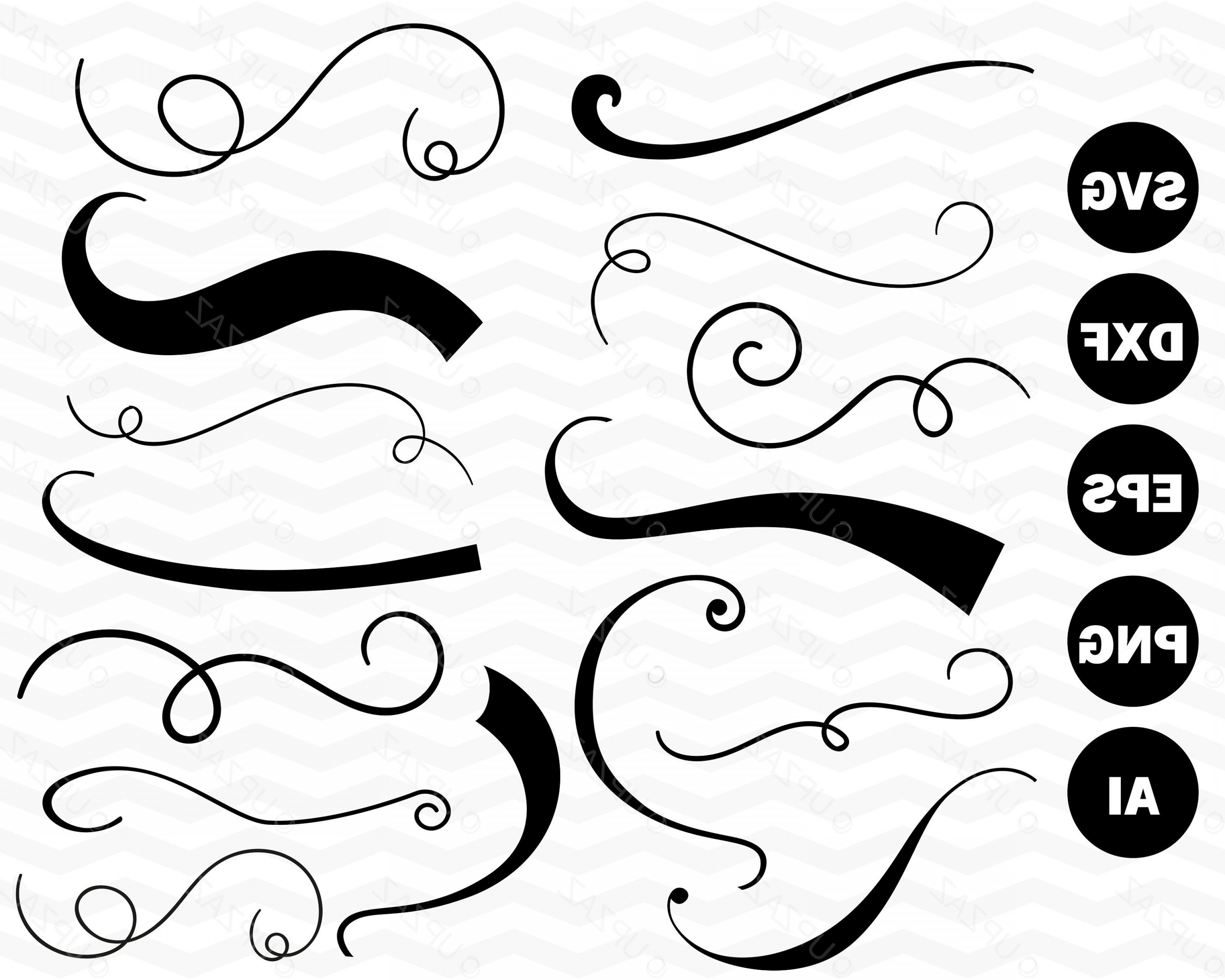 Text Tail Vector: Text Tails Svg Swoosh Swirls Vector