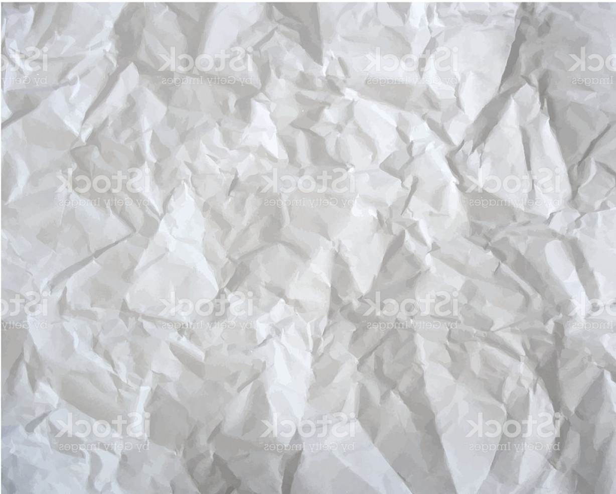 Crinkled Paper Vector: Texture Of Crumpled Paper Vector Illustration Gm