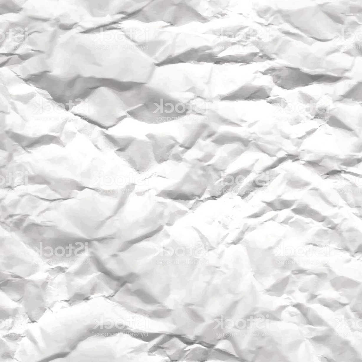 Crinkled Paper Vector: Texture Of Crumpled White Paper Gm