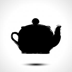 Tea Pot Vector: Teapot Kettle Tea Kettle Silhouette Stylized Vector