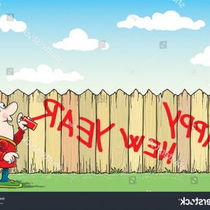 Man Spraying Vector Fence: A Man Looks Away In Front Of Barbed Wire And A Graffitied Brick Wall