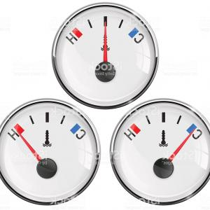 Vector Gauge Thermometer: Temperature Gauge Car Thermometer Cold Normal Hot Gm