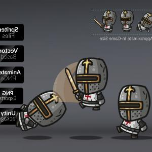 Templar Knight Helmet Vector: Templar Knight Royalty Free Game Art