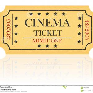 Cinema Ticket Vector: Template Of Cinema Tickets Vector Designs Of Various Cinema Tickets With Gm