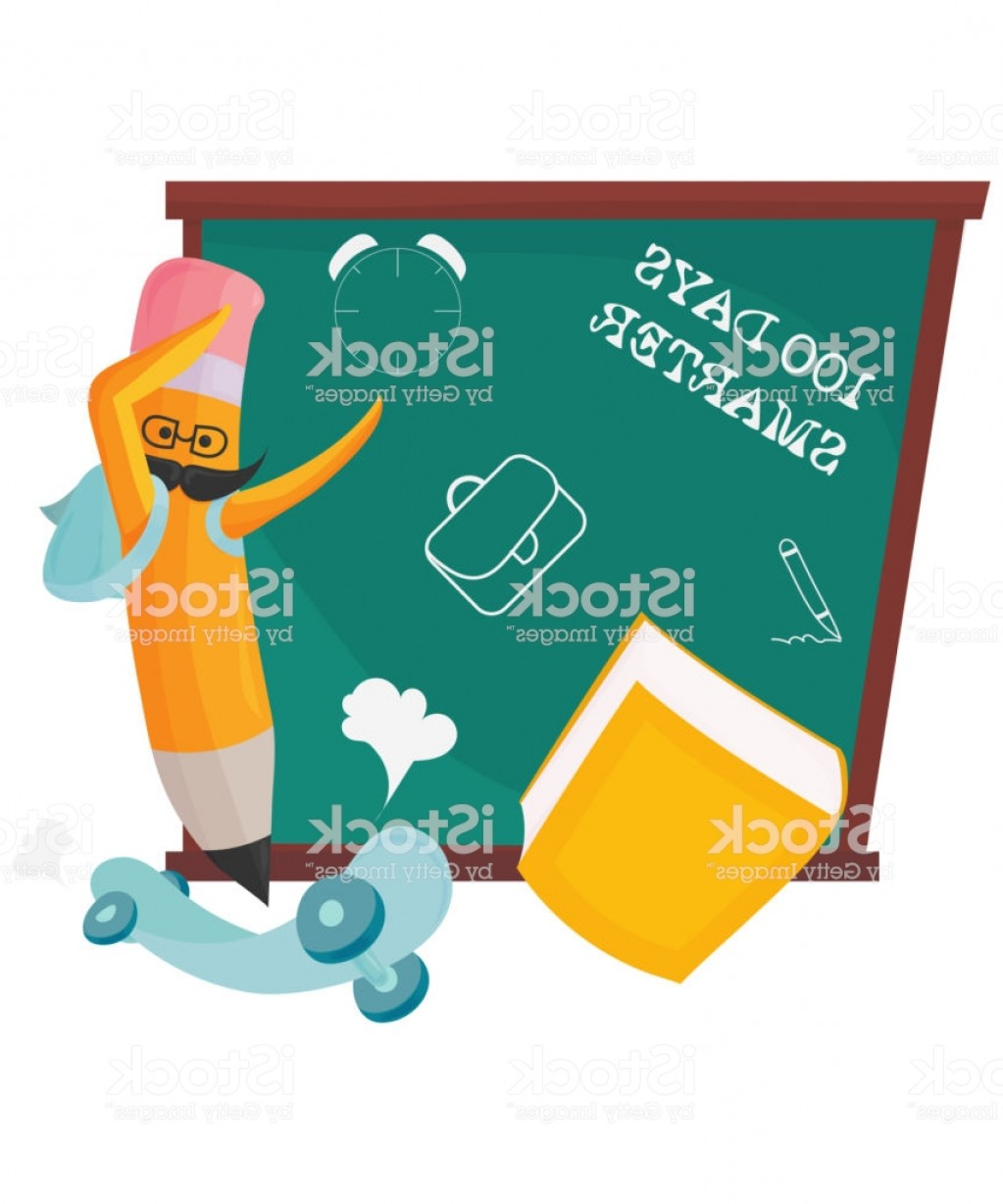Smarter Vector Art: Th Day Of School Vector Illustration Dabbing Pencil And Text Days Smarter Gm