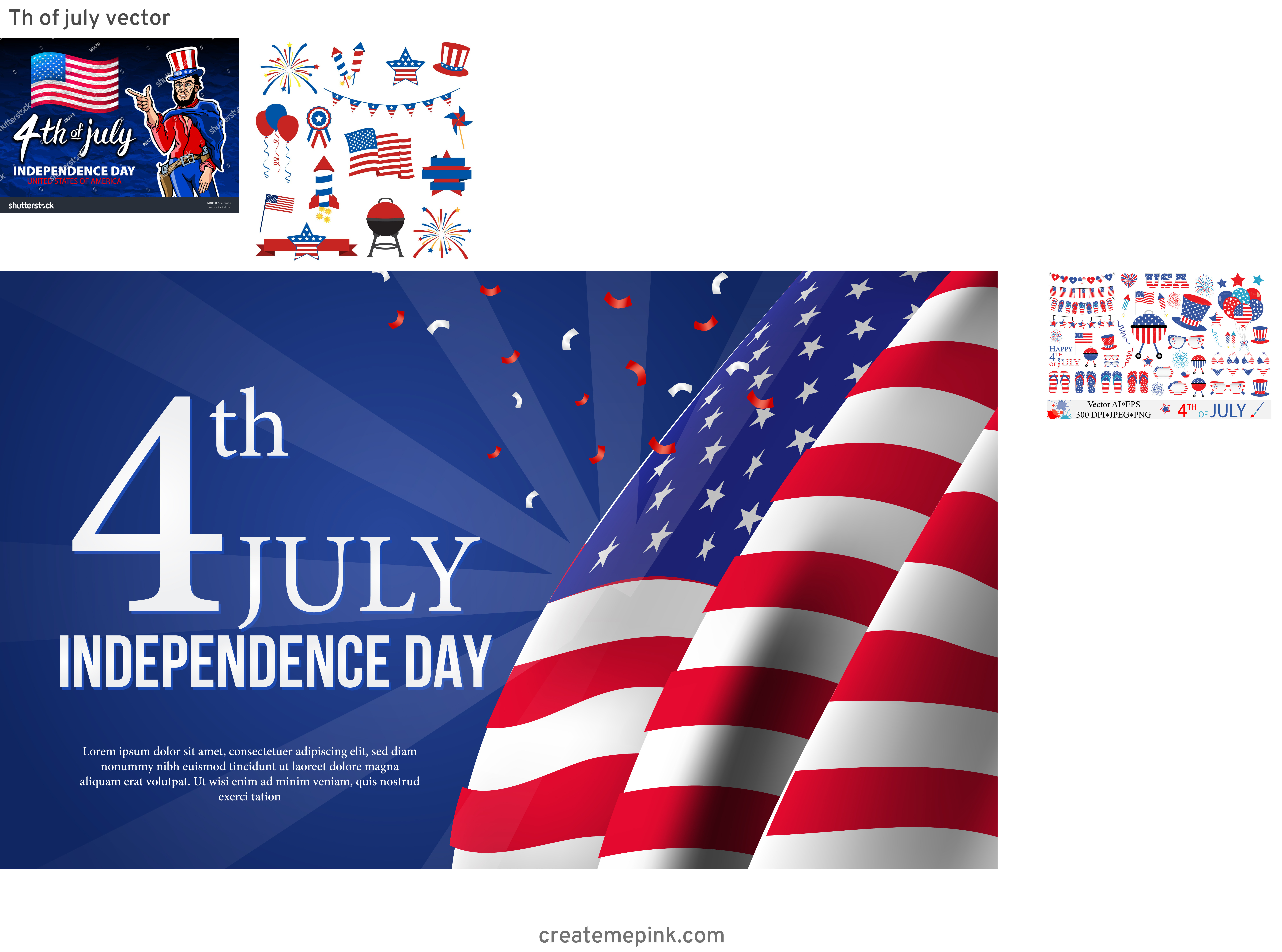 4th Of July Vectors For Men's: Th Of July Vector