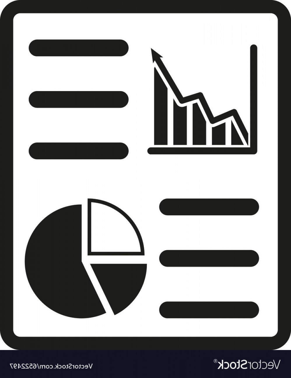 Report Icon Vector: The Business Report Icon Audit And Analysis Vector