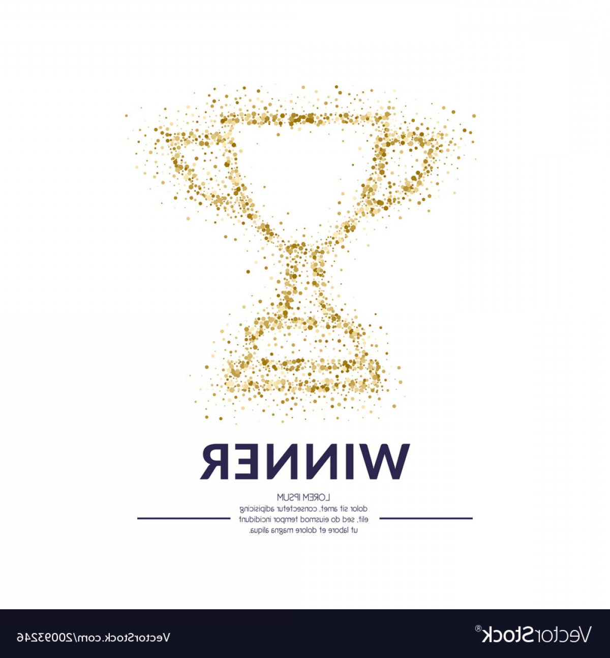 Ice Champions Cup Vector: The Champions Cup Sports Trophy A Prize To The Vector