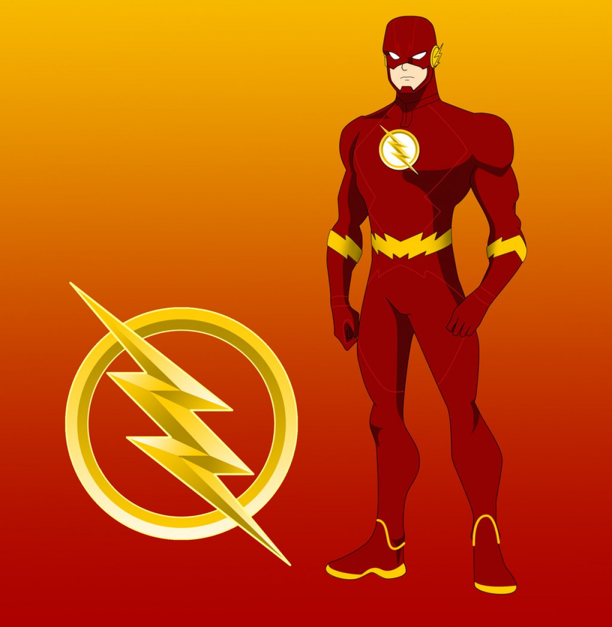 Flash Superhero Logo Vector: The Dc Project Barry Allen The Flash