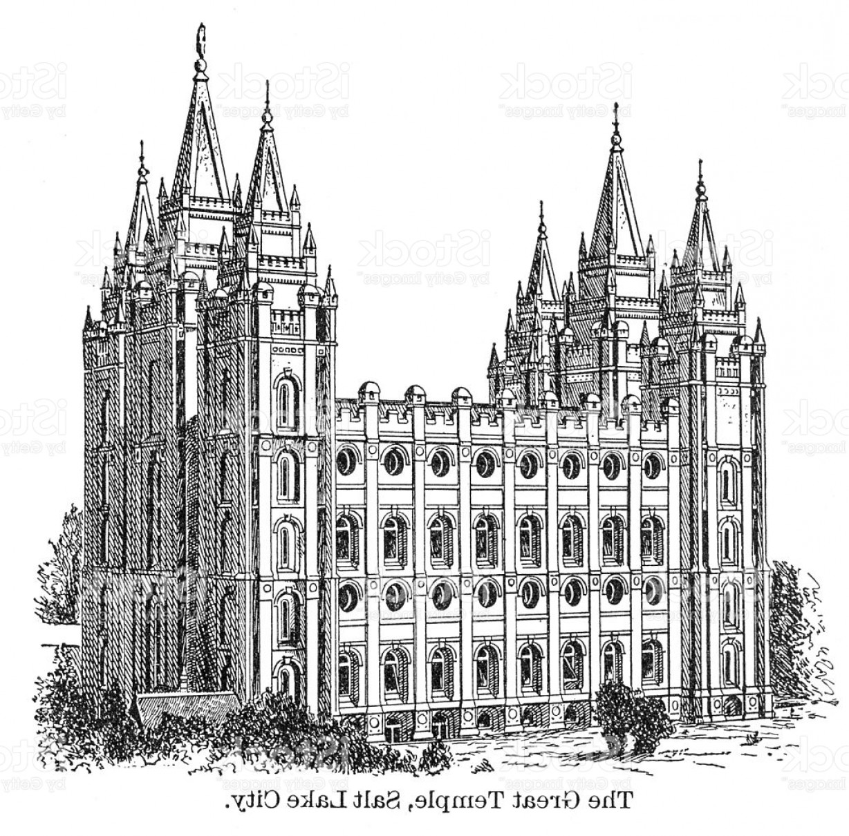Salt Lake City Temple Vector: The Great Temple Of Salt Lake City Gm