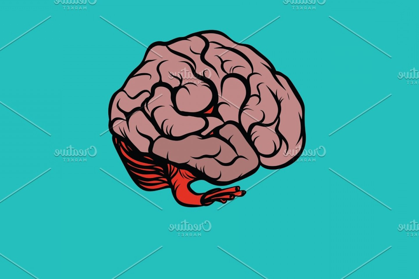 Brain Vector Art: The Human Brain Vector Illustration