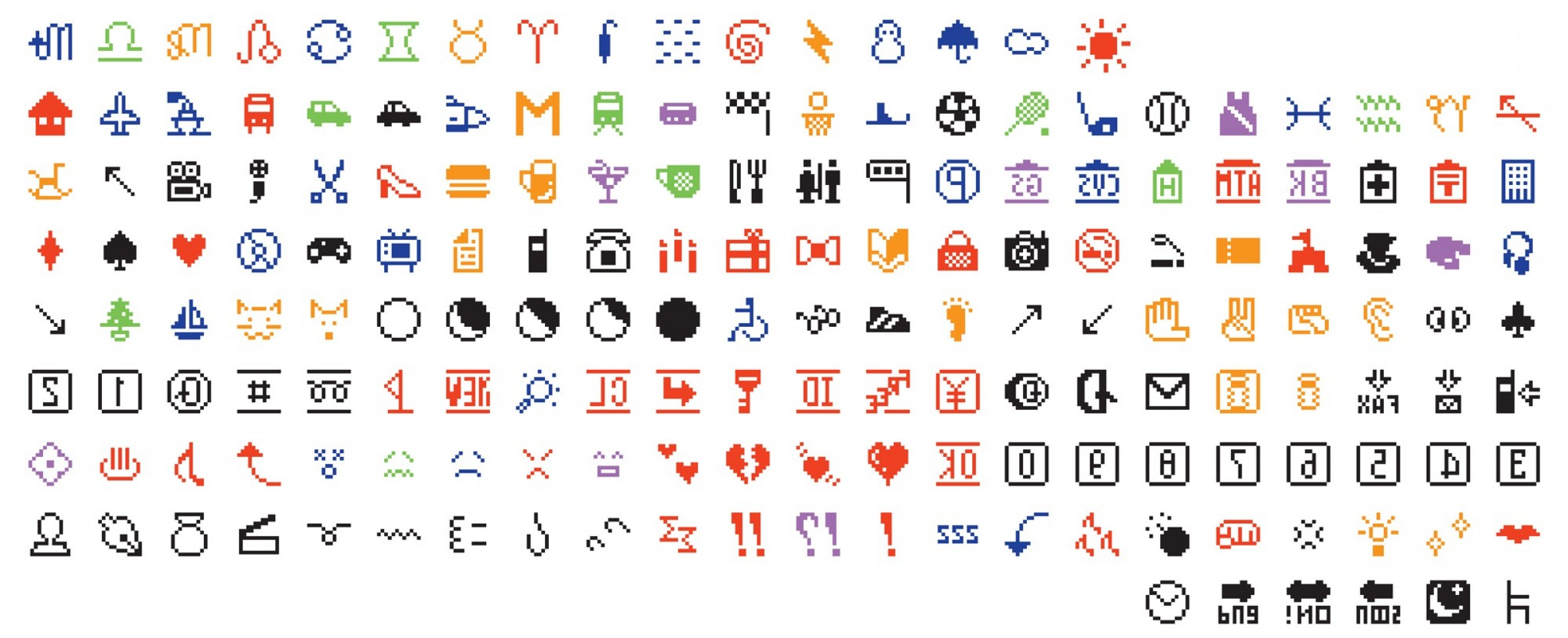 IPhone Emoji Vectors Van: The Original Emoji Set Has Been Added To The Museum Of Modern Arts Collection Cef