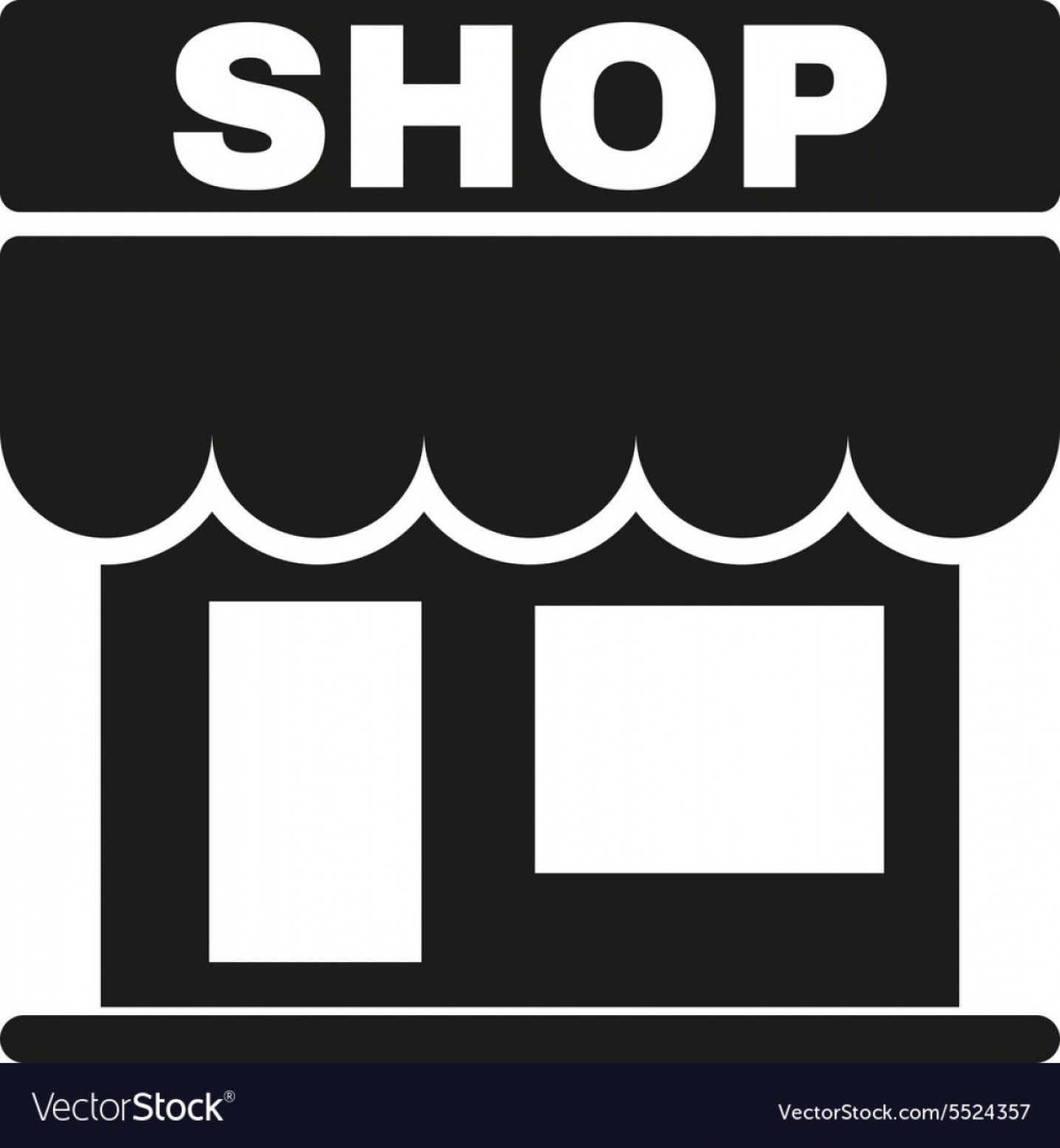 1903 Ford Motor Company Vector Art: The Shop Icon Store Symbol Flat Vector