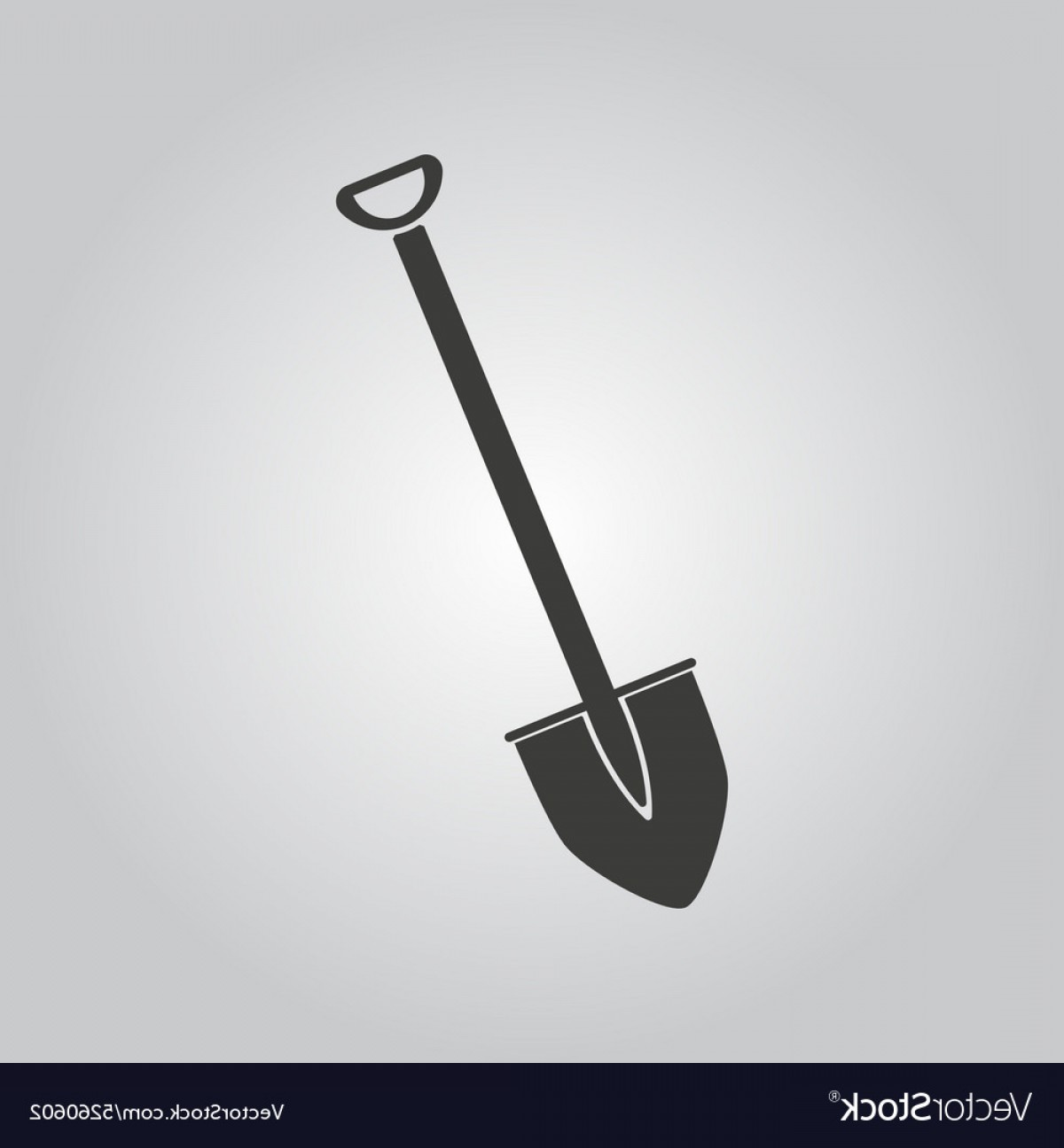 Shovel Vector: The Shovel Icon Spade Symbol Flat Vector