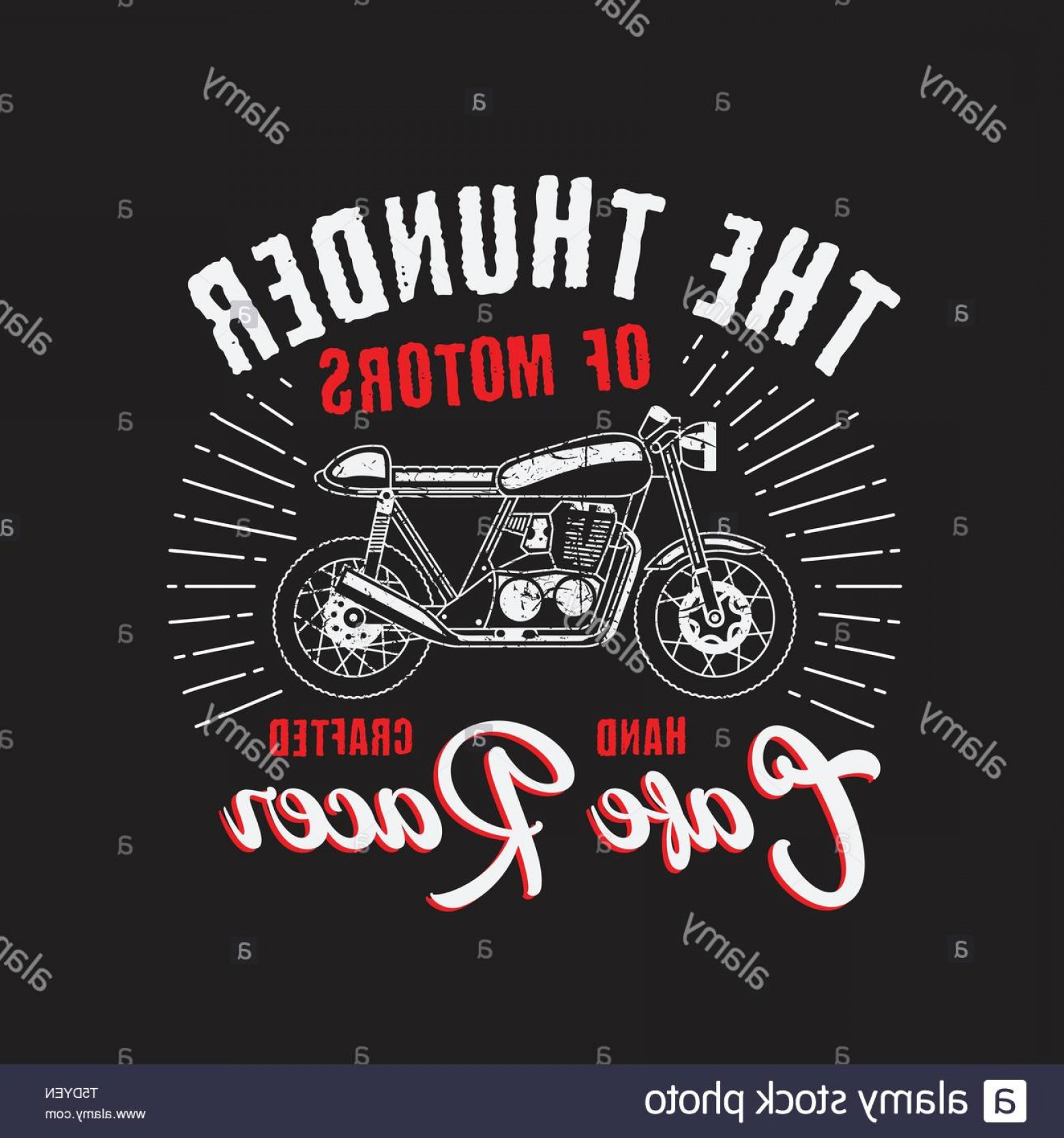 Motorcycle Club Vector: The Thunder Motorcycle Club Vector Template Good For Your T Shirt Event Image