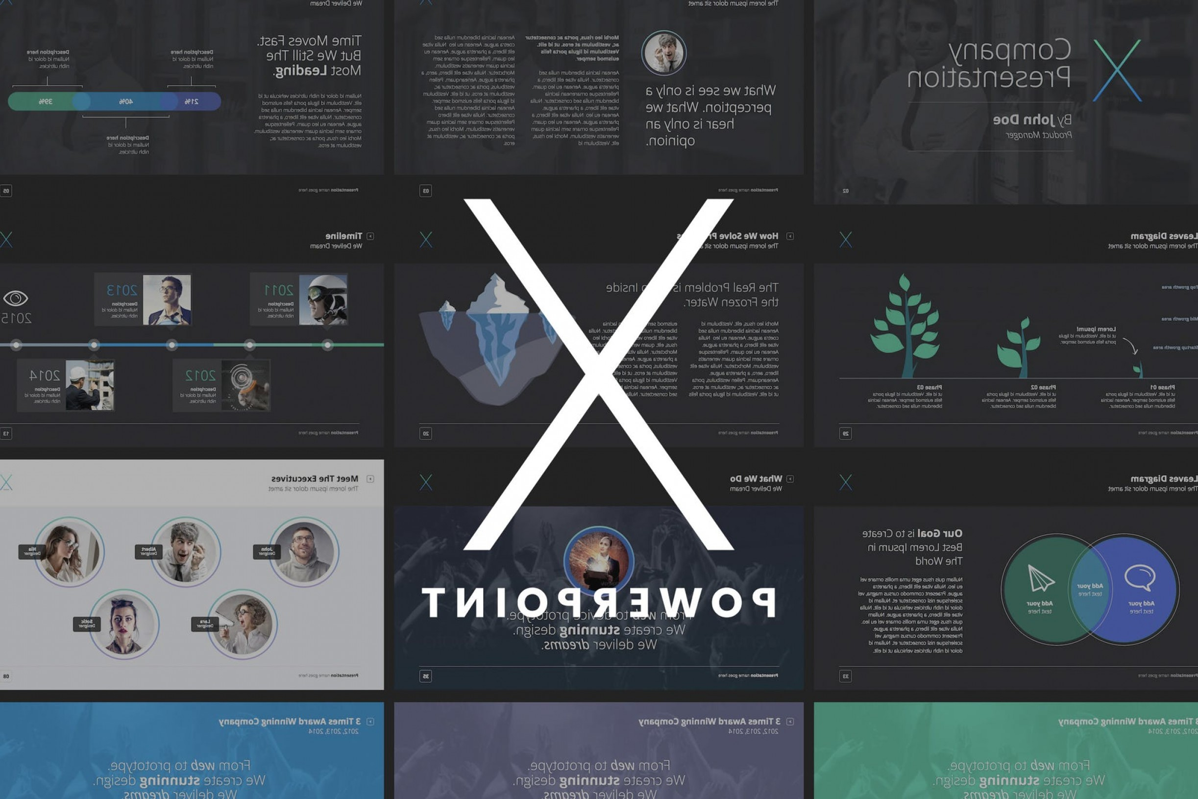 3 Vectors PowerPoint: The X Note Powerpoint Template Cjx