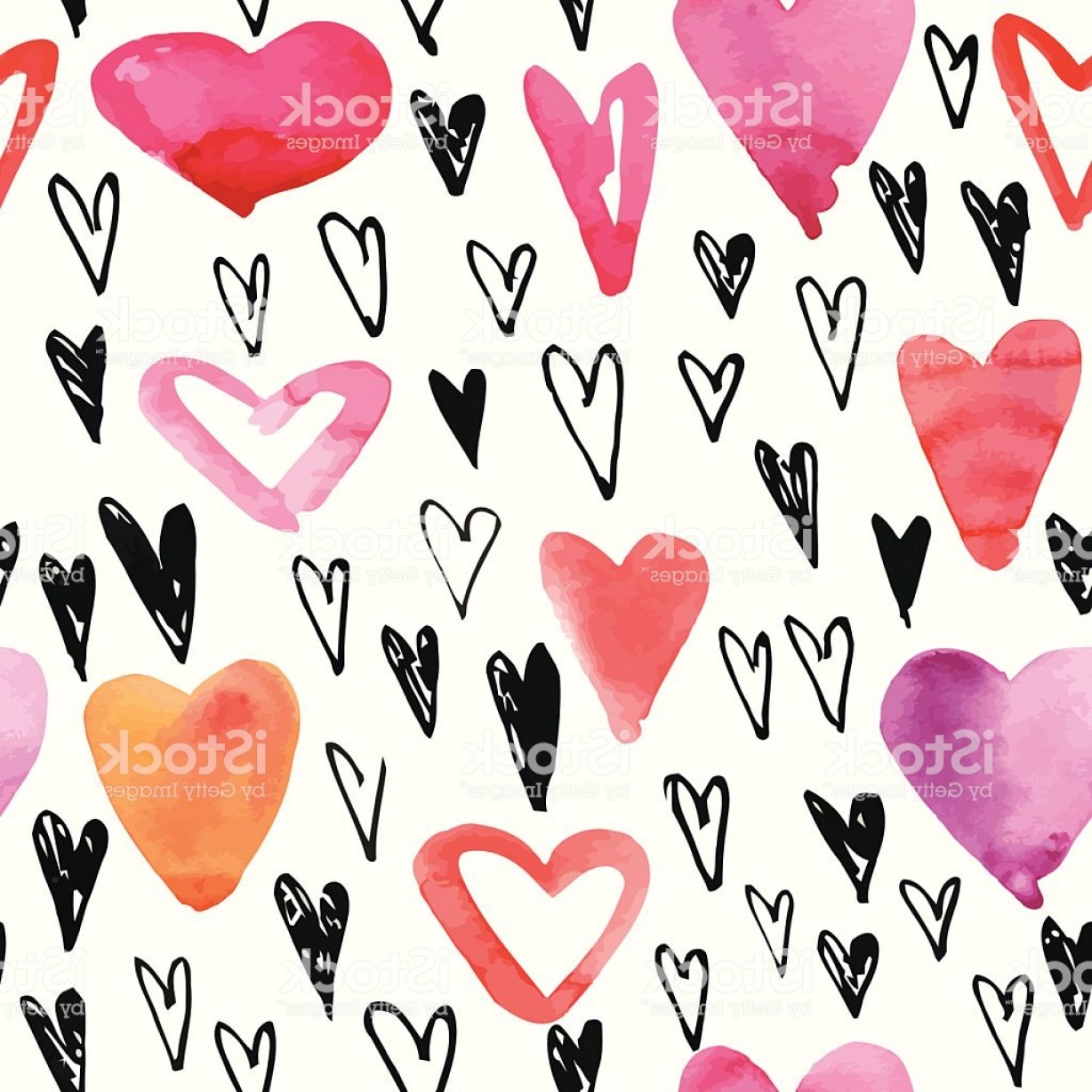 Heart In Hand Vector Clip Art: These Hearts Are Hand Drawn With Different Colors Gm