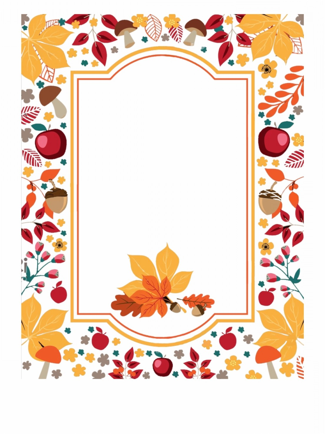 Thanksgiving Border Vector: Thhjihfree Thanksgiving Flowers Border Png Vector Clipart Transparent