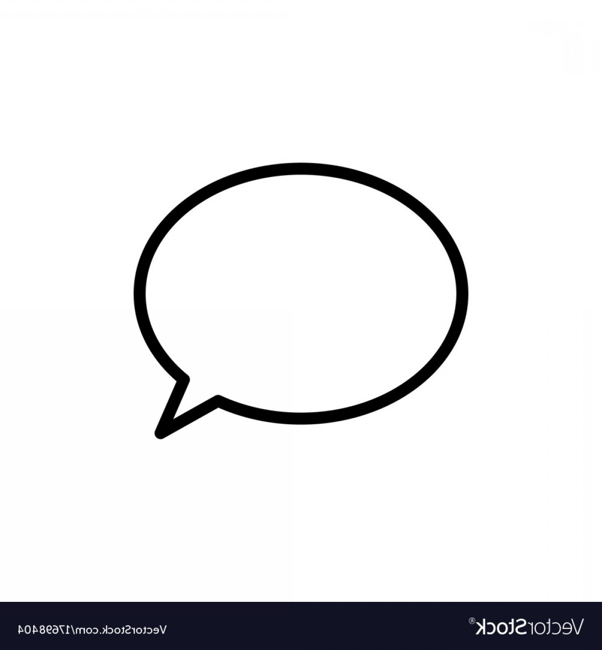 Speech Bubble Icon Vector: Thin Line Chat Speech Bubble Chatting Icon Vector