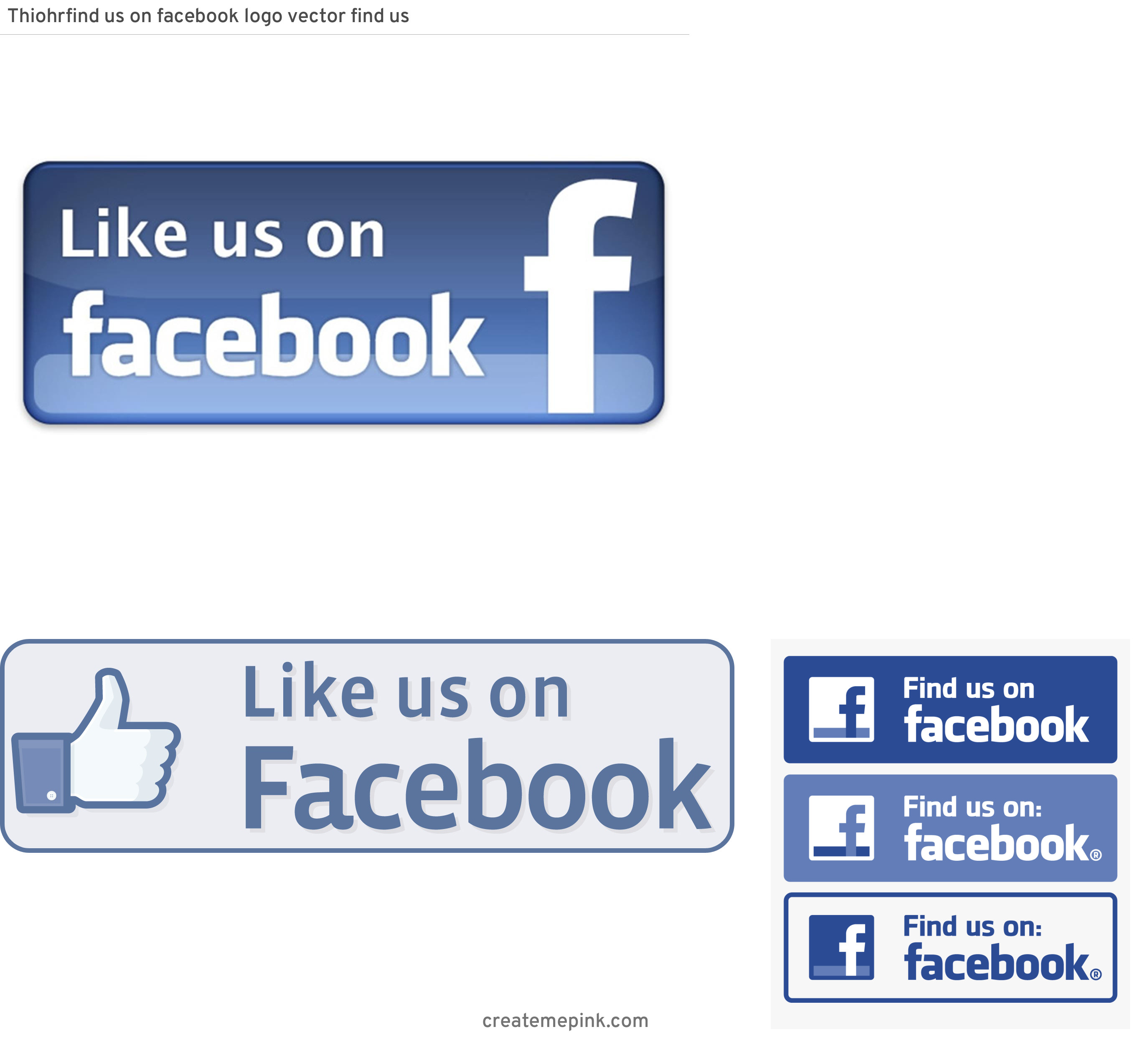 Official Like Us On Facebook Logo Vector: Thiohrfind Us On Facebook Logo Vector Find Us