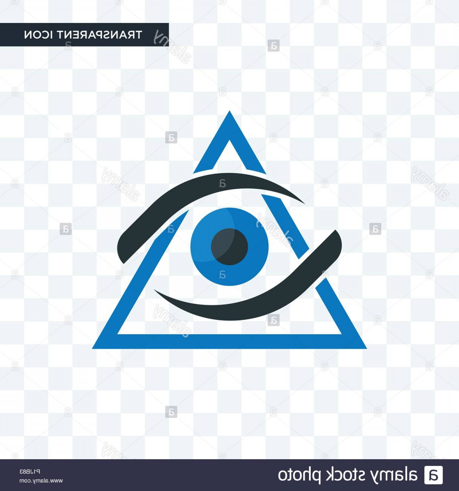 Eye Vector Logo: Third Eye Vector Icon Isolated On Transparent Background Third Eye Logo Concept Image