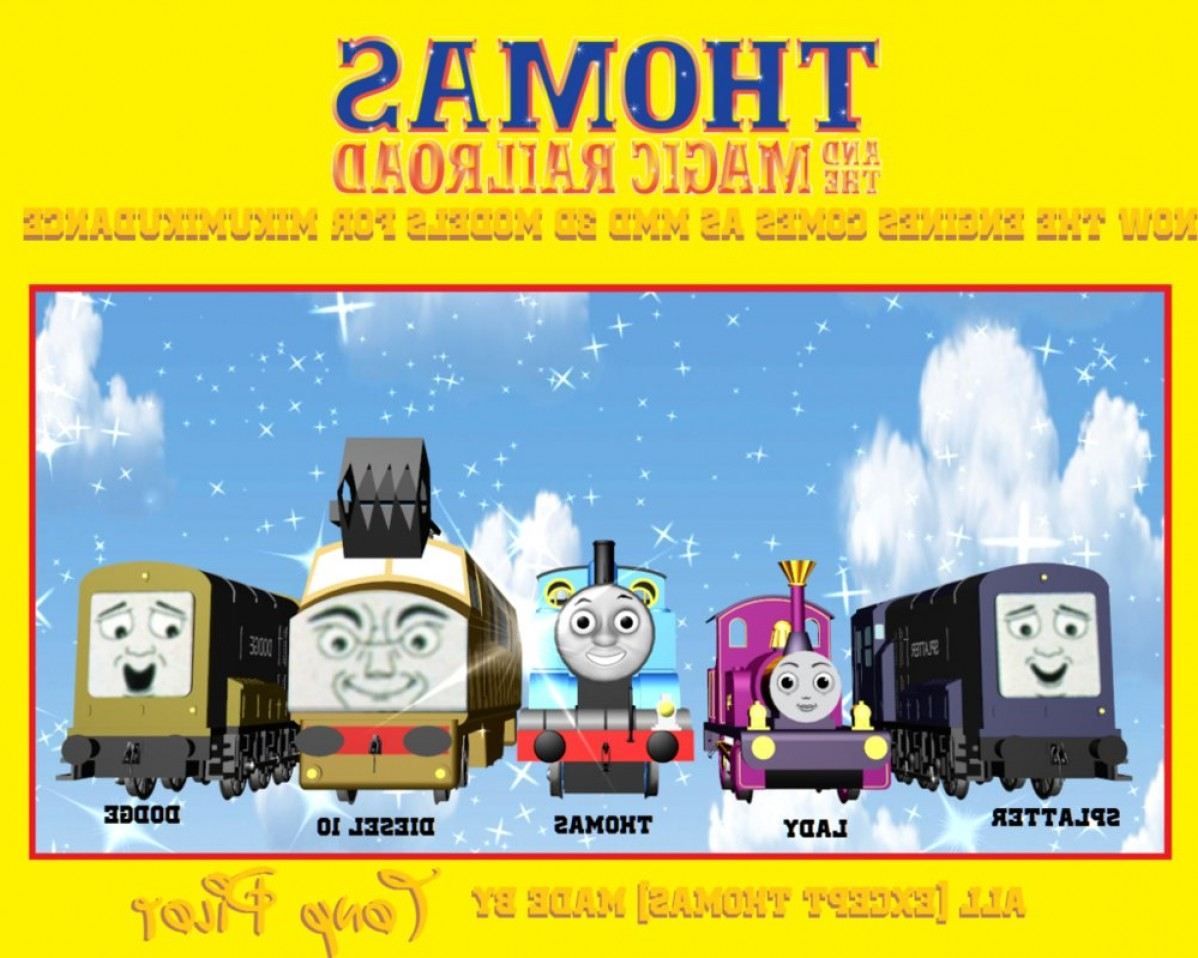 Thomas And Thomas Vector: Thomas And The Magic Railroad Models In Mmd