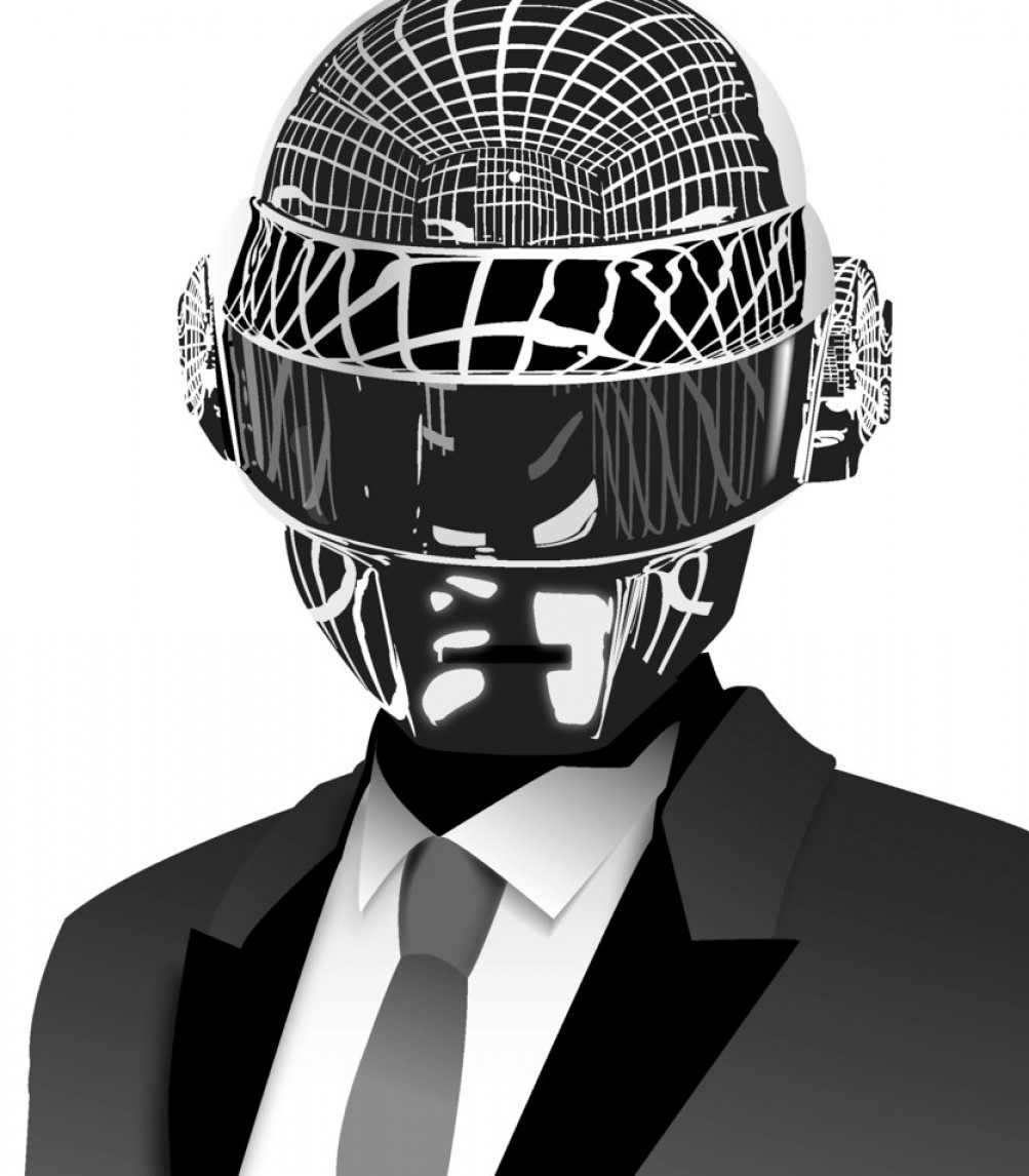 Thomas And Thomas Vector: Thomas Bangalter Daft Punk Vector Artwork