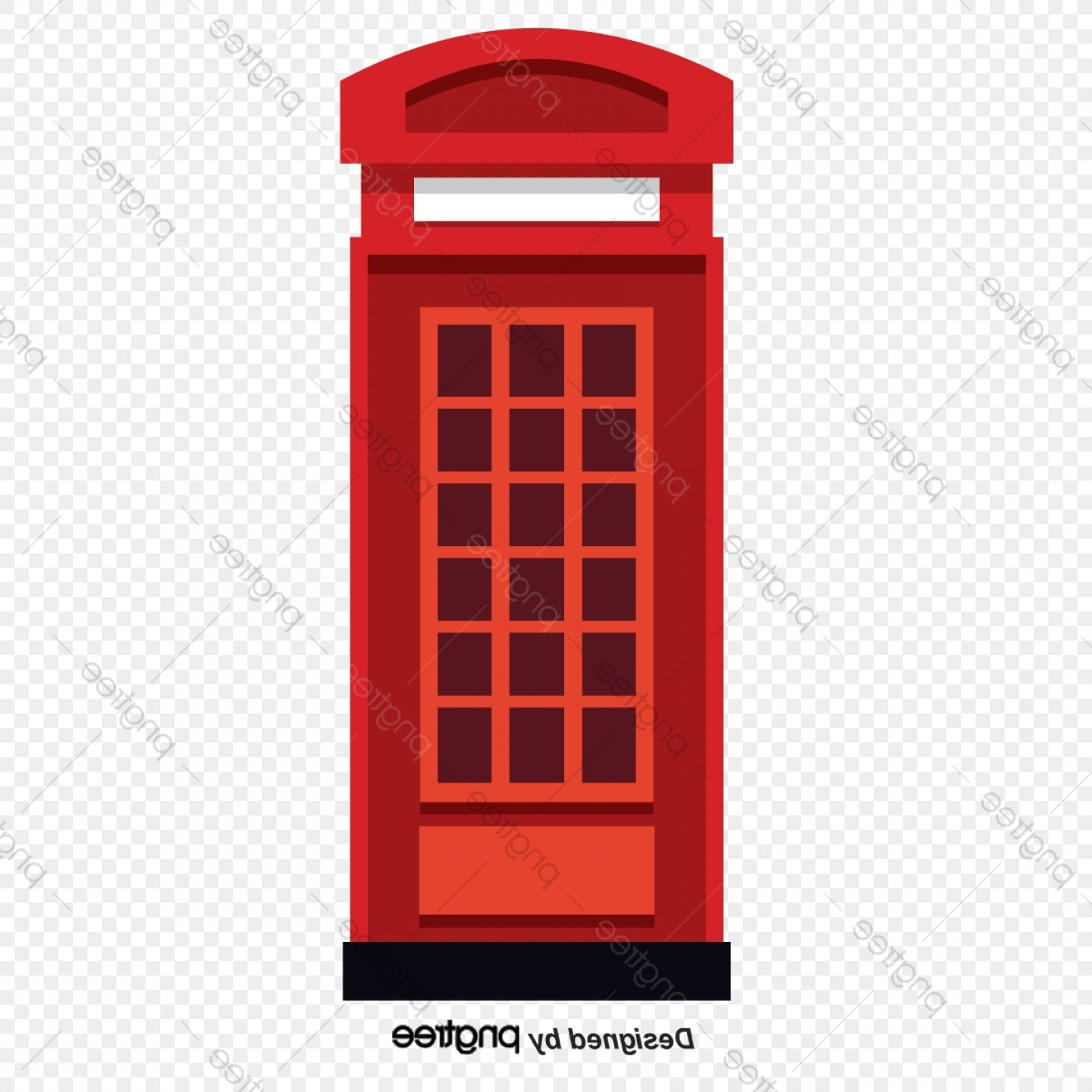 Commercial Booth Vector: Three Dimensional Simplicity Of Special Telephone Booths In Britain