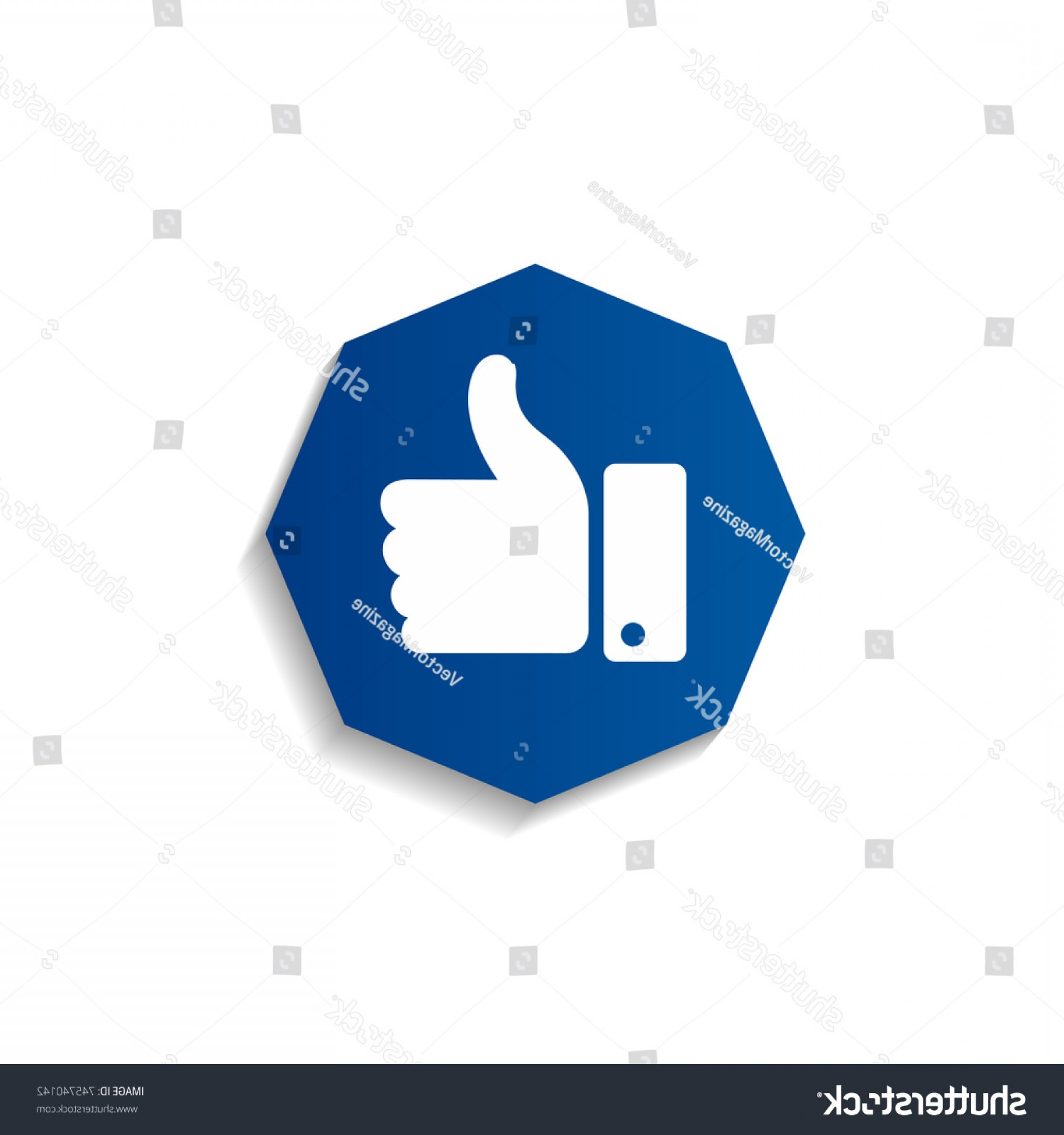 Finger Facebook Vector: Thumb Symbol Finger Icon Facebook Like