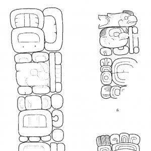 Mayan Sun Gold Vector Png: The Aj Kakaw Title In Classic Maya Inscriptions A Itzimte Altar Fragment B Itzimtefig