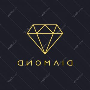 Diamond Logo Vector: Thin Line Diamond Logo Vector
