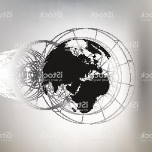 Abstract Vector Art Globe TV: Blue Breaking News Tv Background