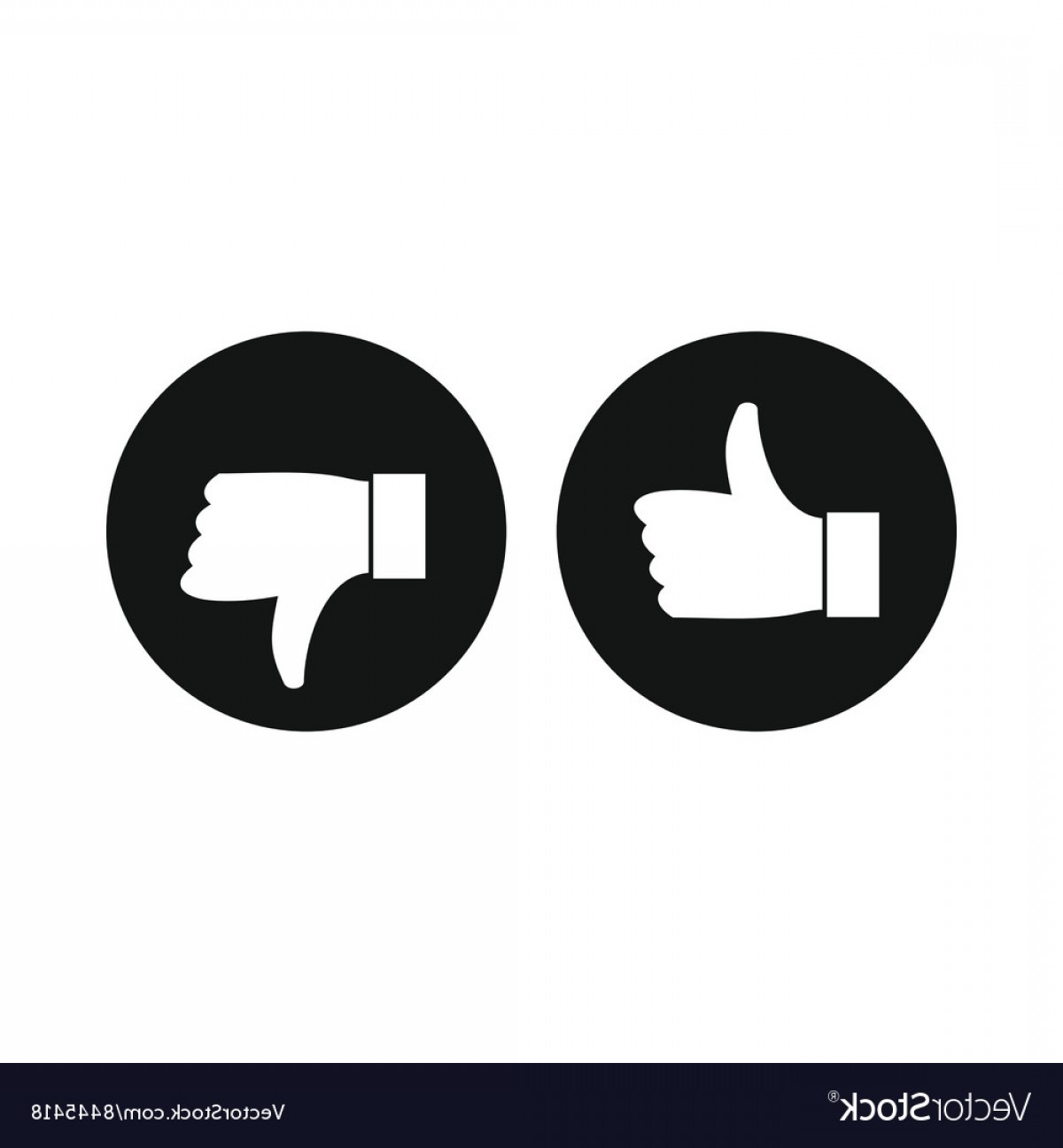 Vector Thumbs Up Down: Thumbs Up And Down Icon Simple Style Vector