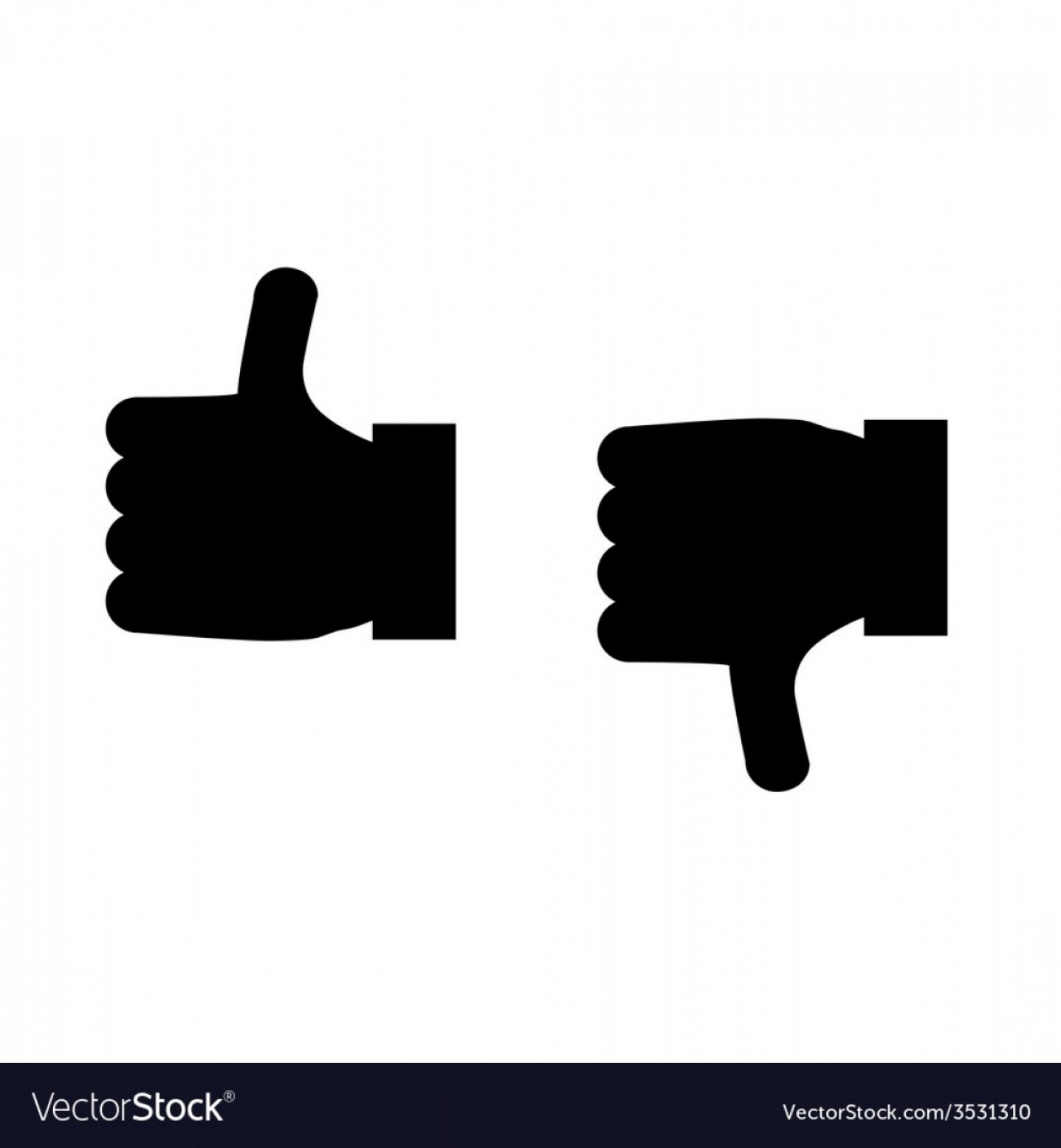 Vector Thumbs Up Down: Thumbs Up And Thumbs Down Icon Vector