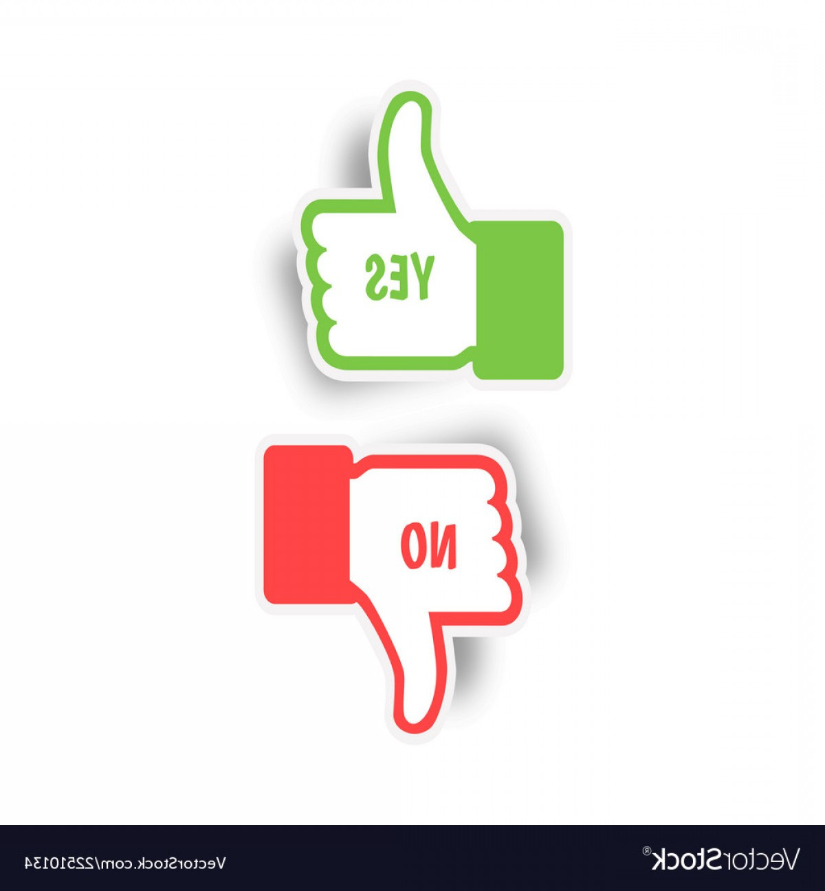 Vector Thumbs Up Down: Thumbs Up And Thumbs Down Yes And No Like And Vector