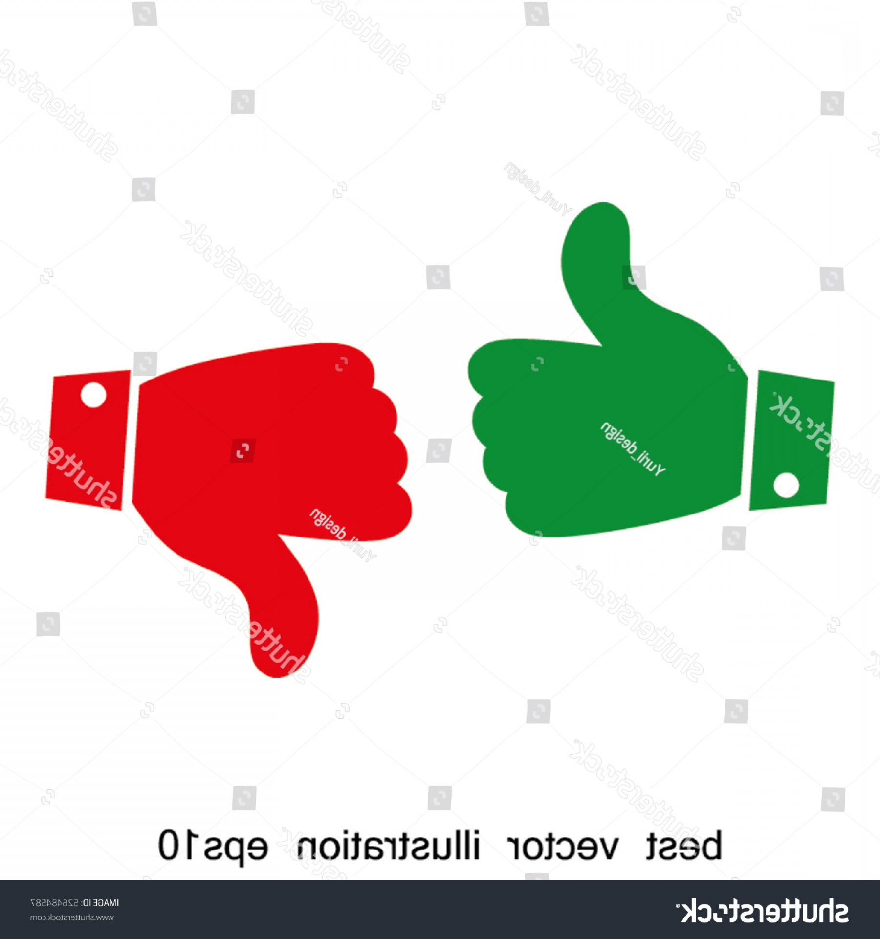 Vector Thumbs Up Down: Thumbs Up Down Icon Vector