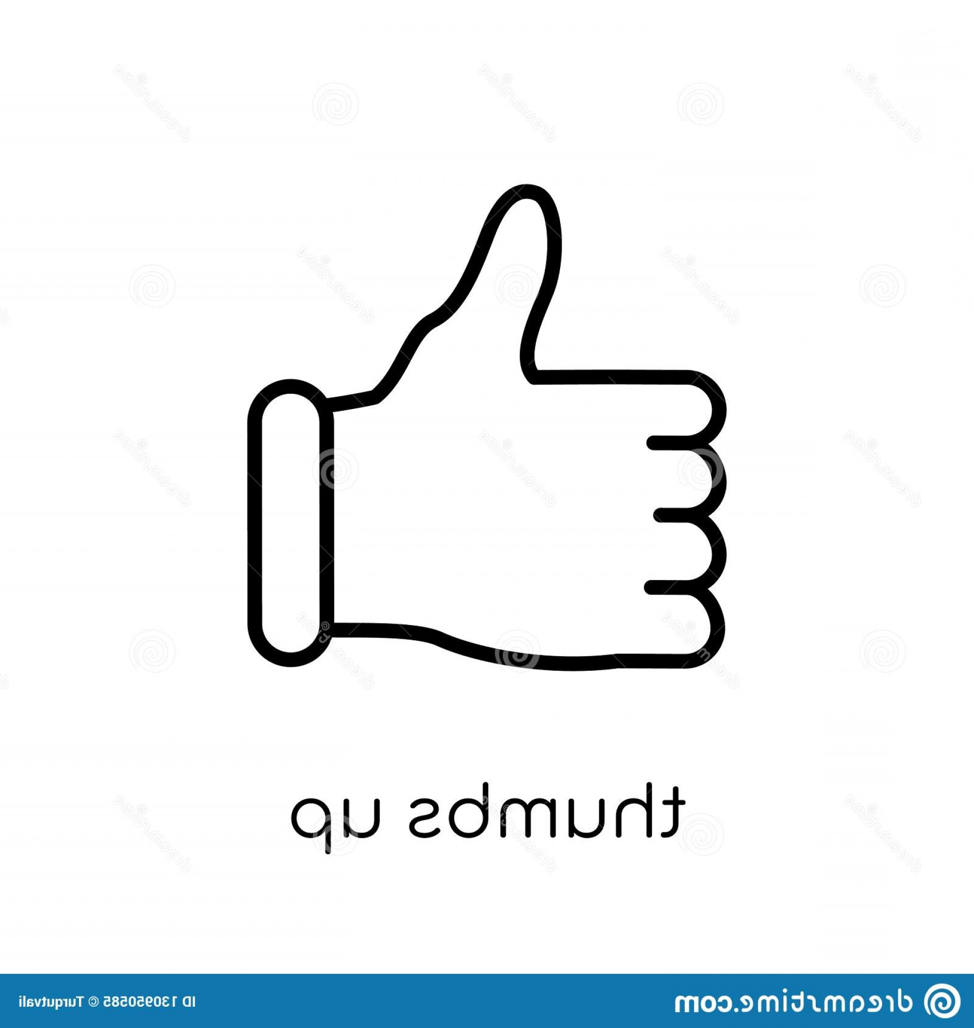 Vector Thumbs Up Down: Thumbs Up Icon Trendy Modern Flat Linear Vector White Background Thin Line Hands Guestures Collection Editable Outline Image