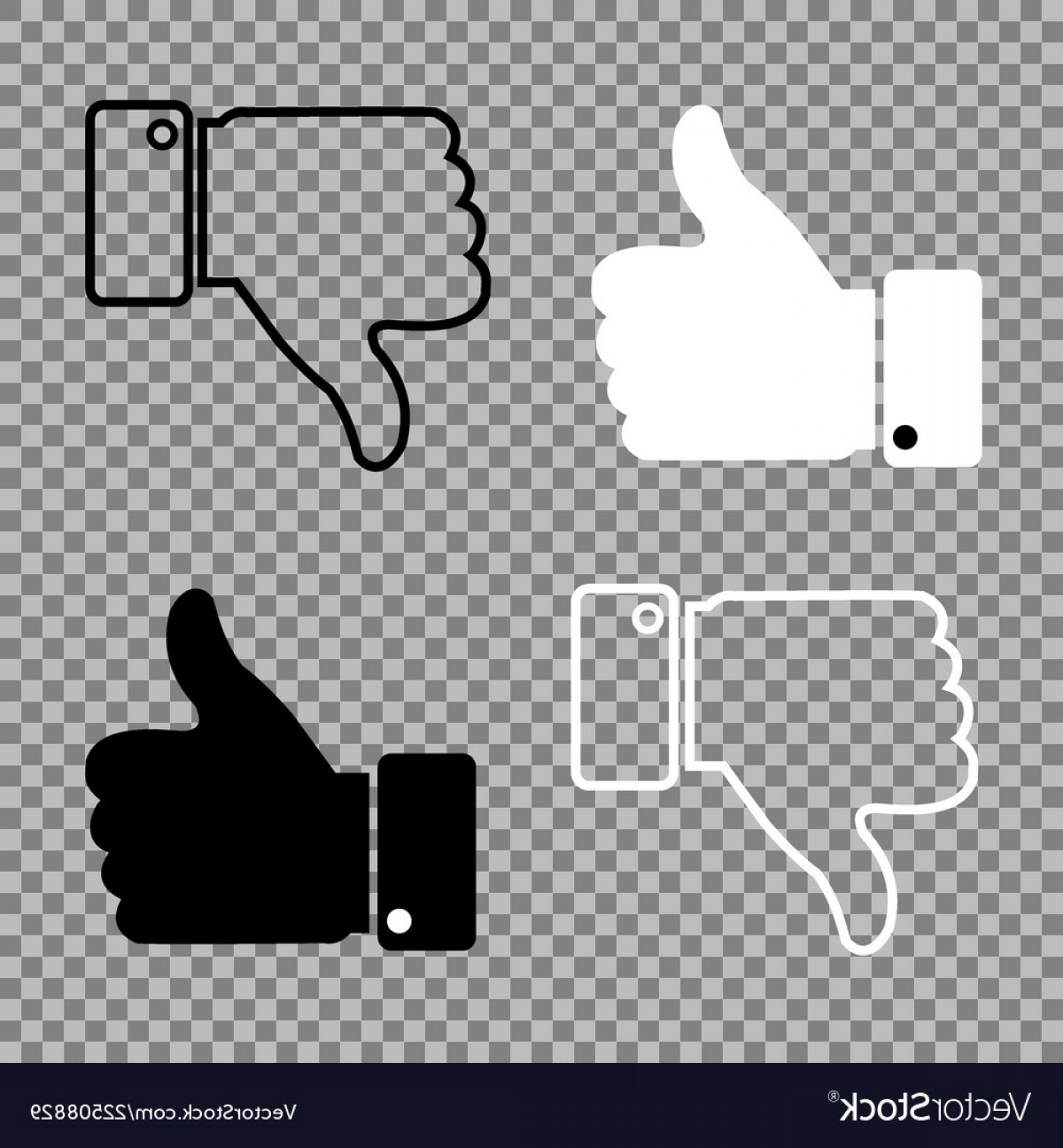 Vector Thumbs Up Down: Thumbs Up Thumbs Down On Isolated Background Vector
