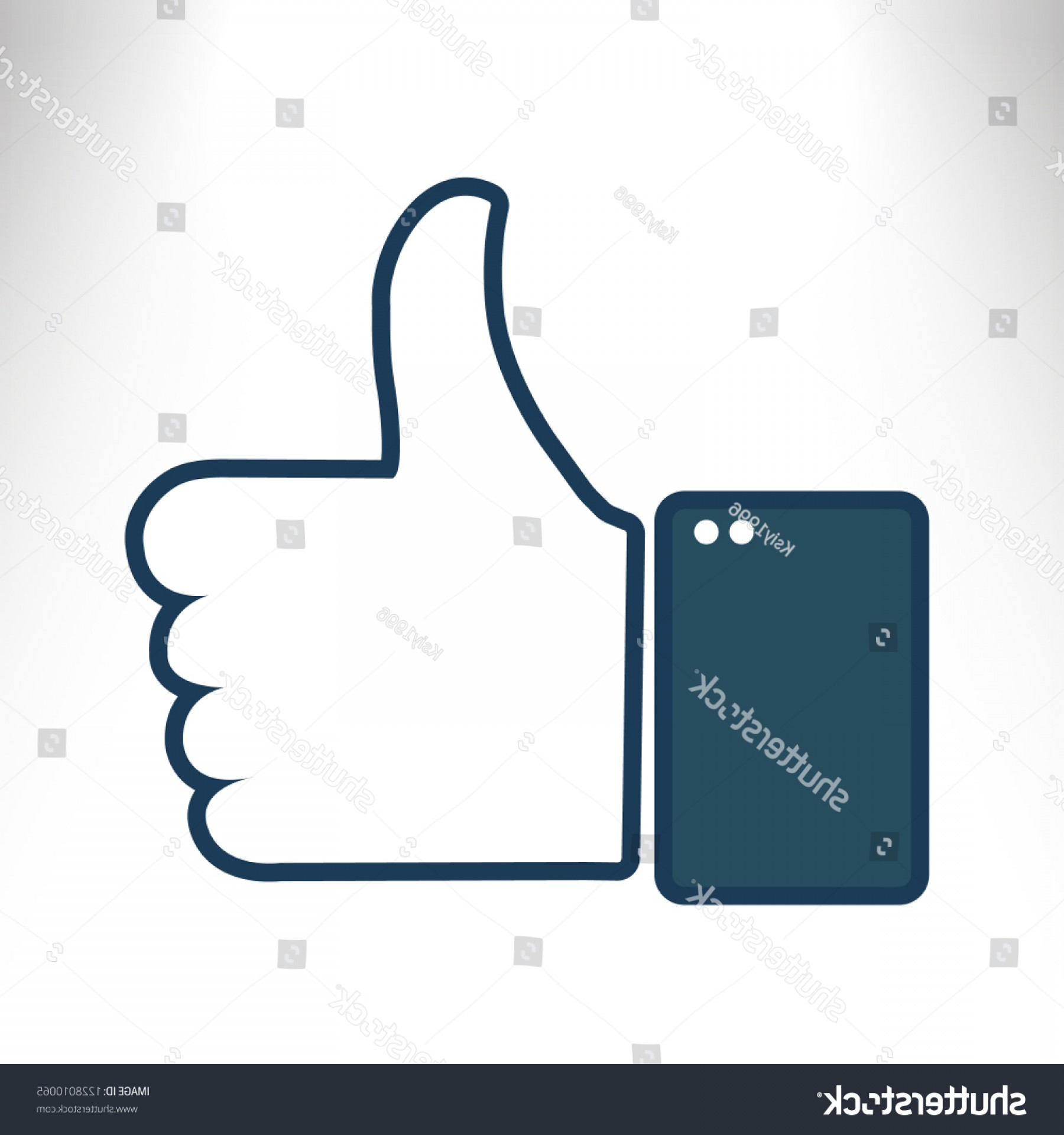 Finger Facebook Vector: Thumbsup Icon Hand Finger Sign Thumb