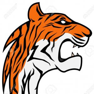And Tiger Claws Mascot Vector: Tiger Gamer Player Cartoon Animal Sports