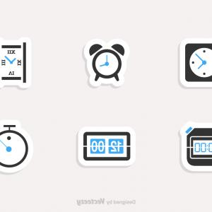 Time Clock Vector: Alarm Clock Vector Icon Meaning Wake
