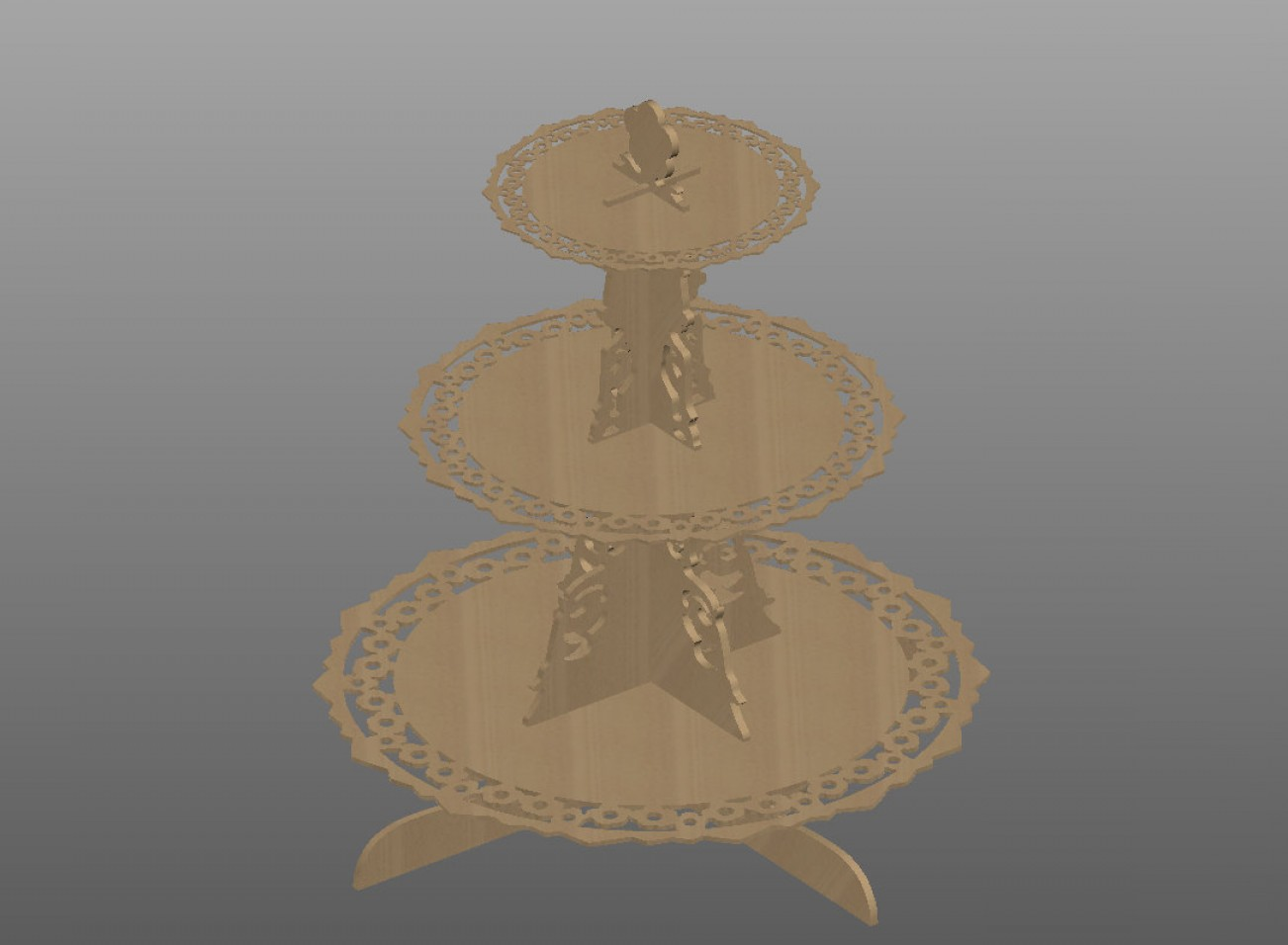 Vector 3 Tier Tray: Tier Cupcake Stand Pattern Vector For