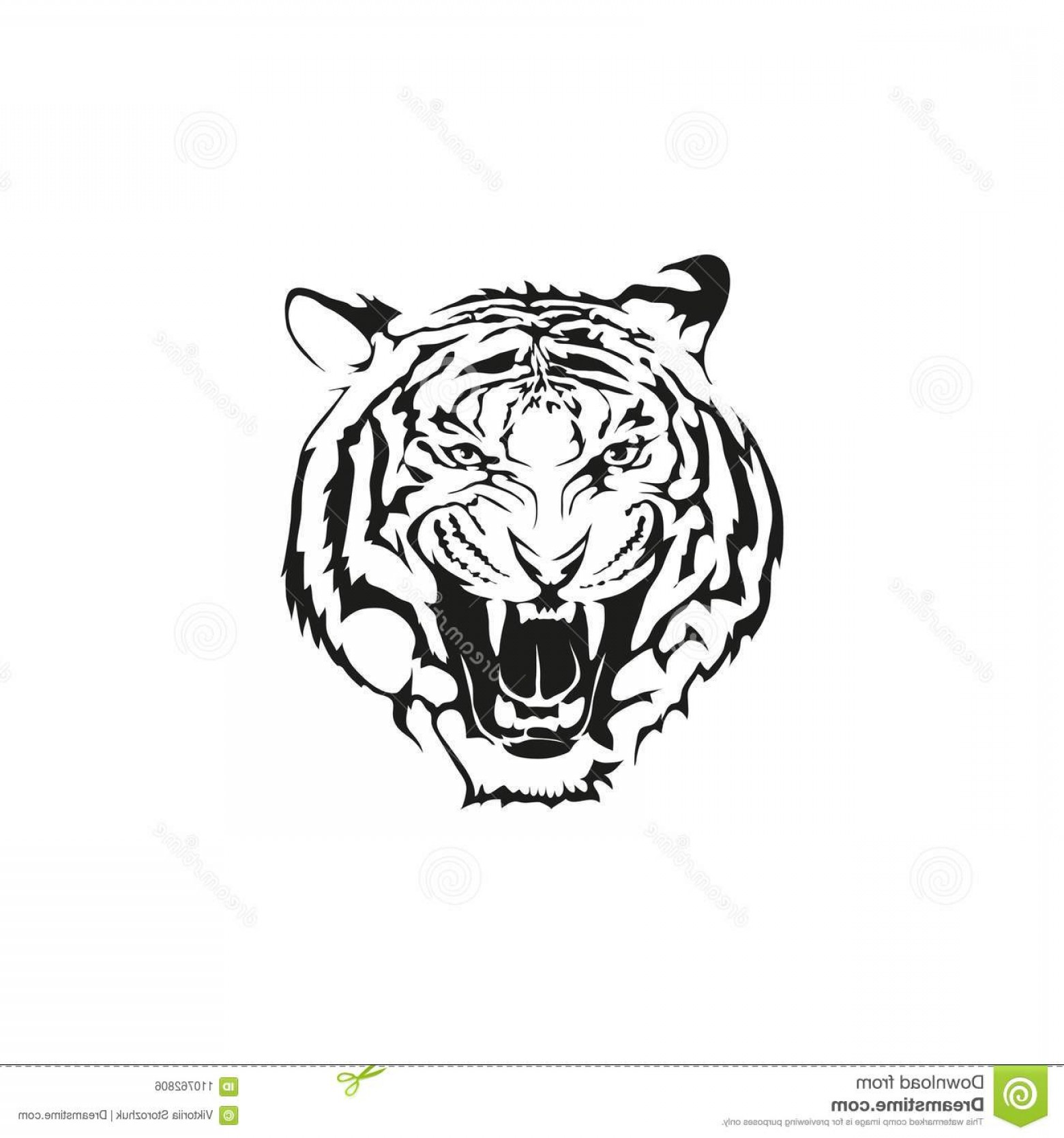Missouri Tigers Logo Vector Black And White: Tiger Logo Emblem Realistic Image Isolated White Background Realistic Image Tiger Logo Emblem Image