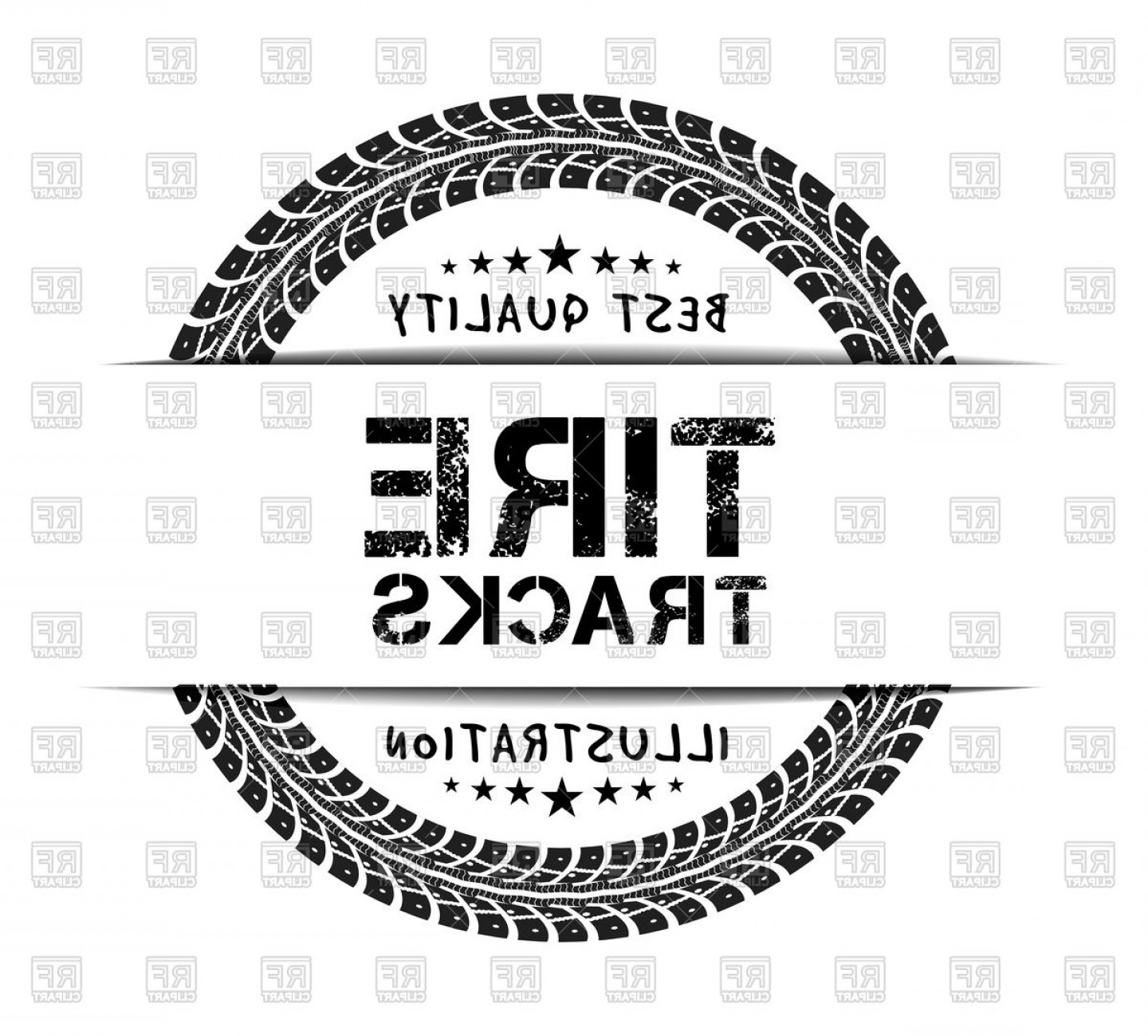 Free EPS Vector Art: Tire Track Stamp Vector Clipart