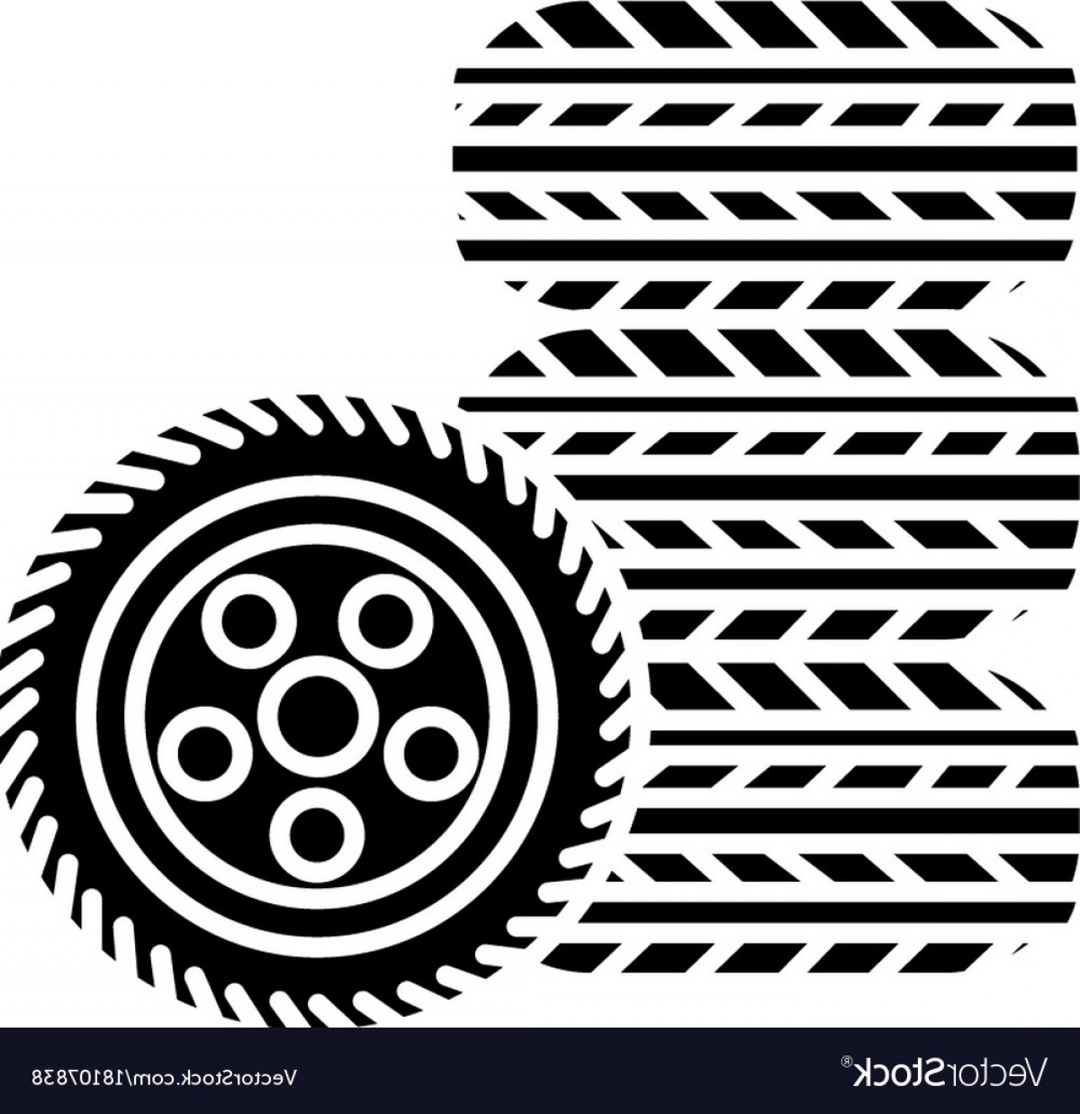 Tire Icon Vector: Tires Tire Service Icon Vector