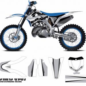 2008 Yamaha Vector Graphics: Tm Racing Semi Custom Graphics Kit Viper