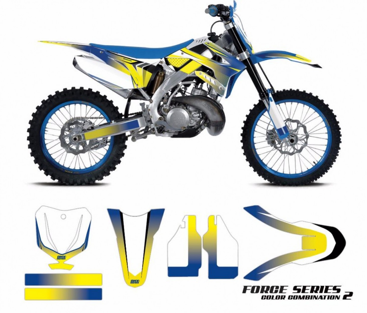 Motocross Number Plate Vector Art: Tm Racing Semi Custom Graphics Kit Force