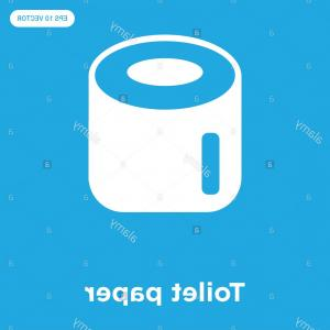 Toilet Paper Vector: Toilet Paper Vector Icon Isolated On Blue Background Sign And Symbol Image