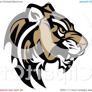 Cougar Mascot Vector: Tough Cougar Mascot Head In Profile