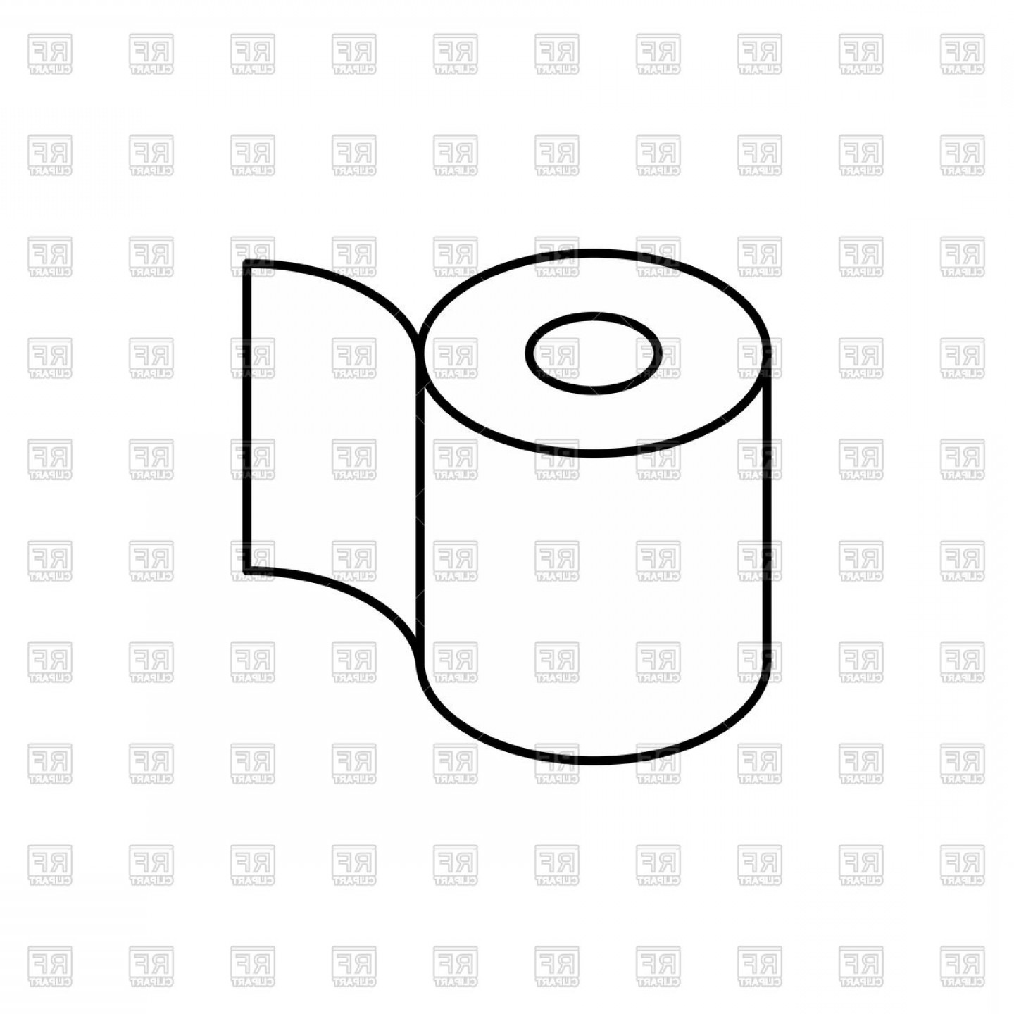 Toilet Paper Vector: Toilet Paper Roll Icon Vector Clipart